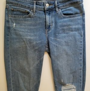 Levi's 711 distressed skinny jean